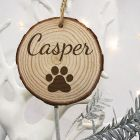 Personalised Cat Name Christmas Tree Decoration
