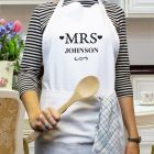 Personalised Mrs White Cookery Apron