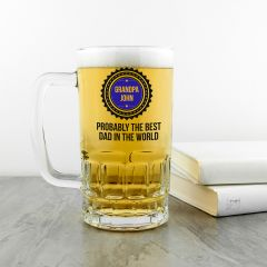 Personalised Probably The Best Dad Beer Tankard