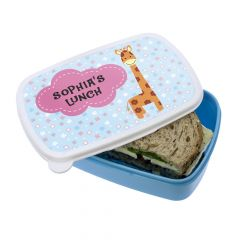 Personalised Tall Giraffe Lunch Box