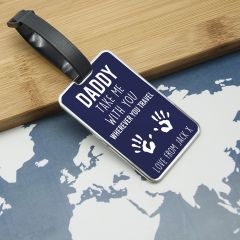 Personalised Daddy Take Me With You Luggage Tag