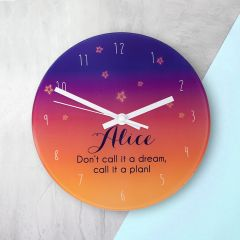 Desert Colours At Dusk Personalised Wall Clock