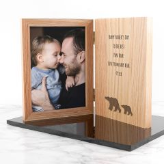 Engraved Father's Day Bear Book Photo Frame