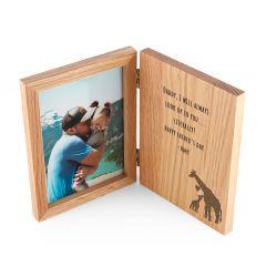 Engraved Father's Day Giraffe Book Photo Frame