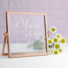 Engraved You're Lovely Rose Gold Frame