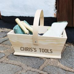 Personalised Gardeners Wooden Trug