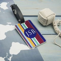 Personalised Gentlemen's Multi-Layered Monogrammed Luggage Tag