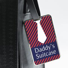 Personalised Gentlemen's Shirt And Tie Luggage Tag