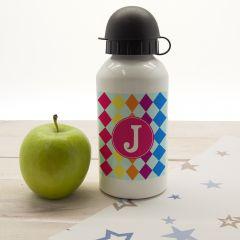 Personalised Girls Mosaic Tiled Water Bottle