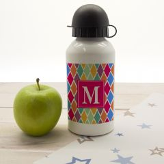 Personalised Harlequin Water Bottle - 6 Colours