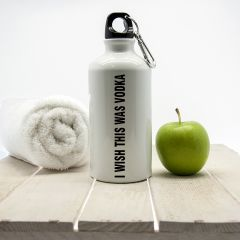 I Wish This Was Vodka Personalised Water Bottle