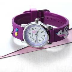 Personalised Childrens Purple Unicorn Watch