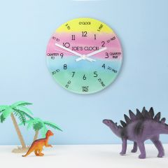 Leant to Tell The Time Personalised Wall Clock