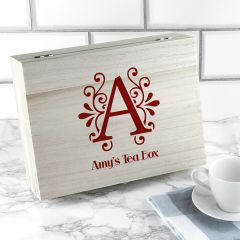 Personalised 'Love Chai' Tea Box With Initial