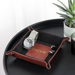 Luxury Brown Personalised Coin Tray