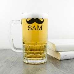 Personalised Moustache Design Beer Tankard