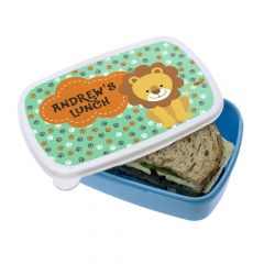 Personalised Little Lion Lunch Box