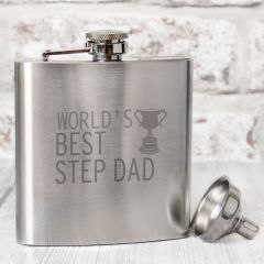 The Worlds Best Step Dad  Hip Flask