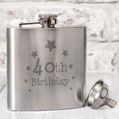 Happy 40th Birthday Hip Flask