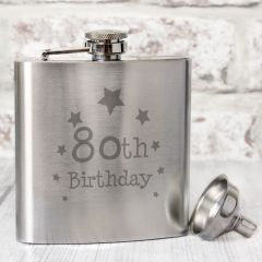 Happy 80th Birthday Hip Flask