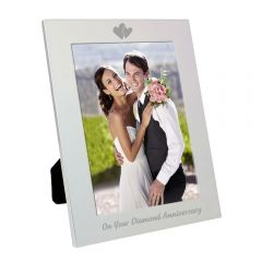 Silver Diamond Anniversary Photo Frame 5x7