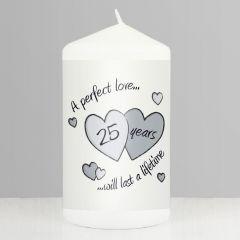Perfect Love Silver Anniversary Keepsake Candle