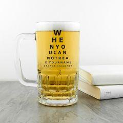 Personalised Eye Test Glass Beer Tankard