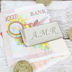 Personalised Silver Plated Money Clip
