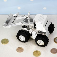 Personalised Digger Design Money Box