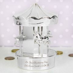 Personalised Carousel Design Money Box
