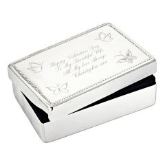 Personalised Butterfly Design Rectangular Jewellery Box
