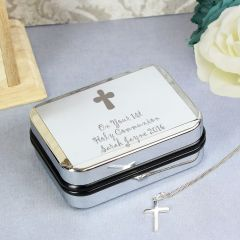 Personalised Cross Necklace & Box Set