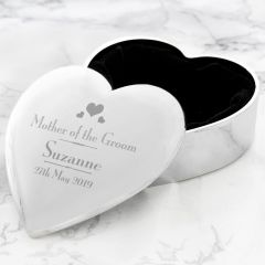 Personalised Wedding Design Mother of the Groom Heart Trinket Box