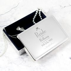 Personalised Wedding Design Bride Jewellery Box