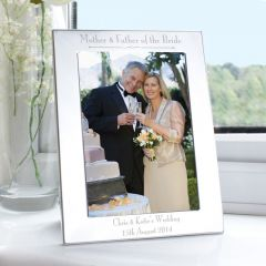 Personalised Silver Decorative Mother & Father of the Bride Photo Frame 5x7