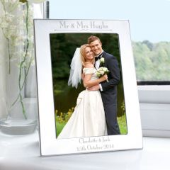 Personalised Silver Decorative Photo Frame 5x7