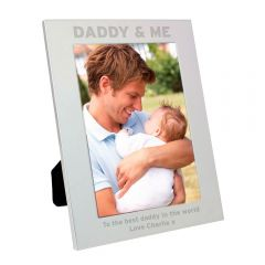Personalised Silver Daddy & Me Photo Frame 5x7