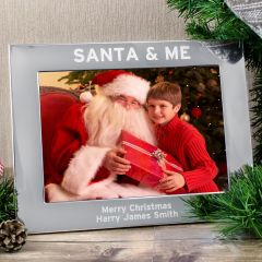 Personalised Santa & Me Landscape Photo Frame 7x5