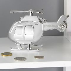 Personalised Helicopter Design Money Box