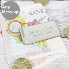 Personalised Classic Design Money Clip