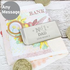 Personalised The No.1 Money Clip