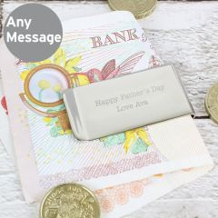Personalised Add Any Message Money Clip