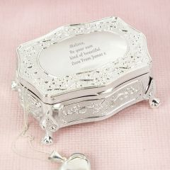 Personalised Add Any Message Small Antique Trinket Box