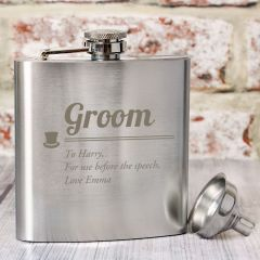 Personalised Groom Wedding Hip Flask