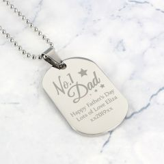 Personalised The No.1 Dad Dog Tag Necklace