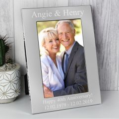 Personalised Silver Photo Frame 6x4