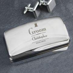 Personalised Wedding Design Groom Cufflink Box