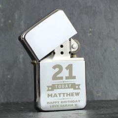 Personalised Birthday Star Design Lighter