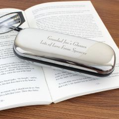 Personalised Chrome Plated Glasses Case