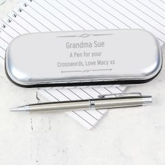 Personalised Scroll Pen and Box Gift Set